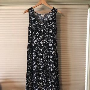 JBS floor length button down dress